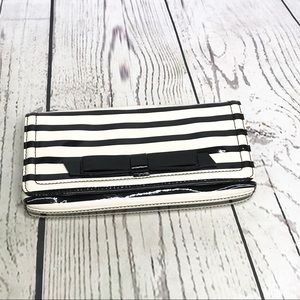Kate spade patent leather striped clutch
